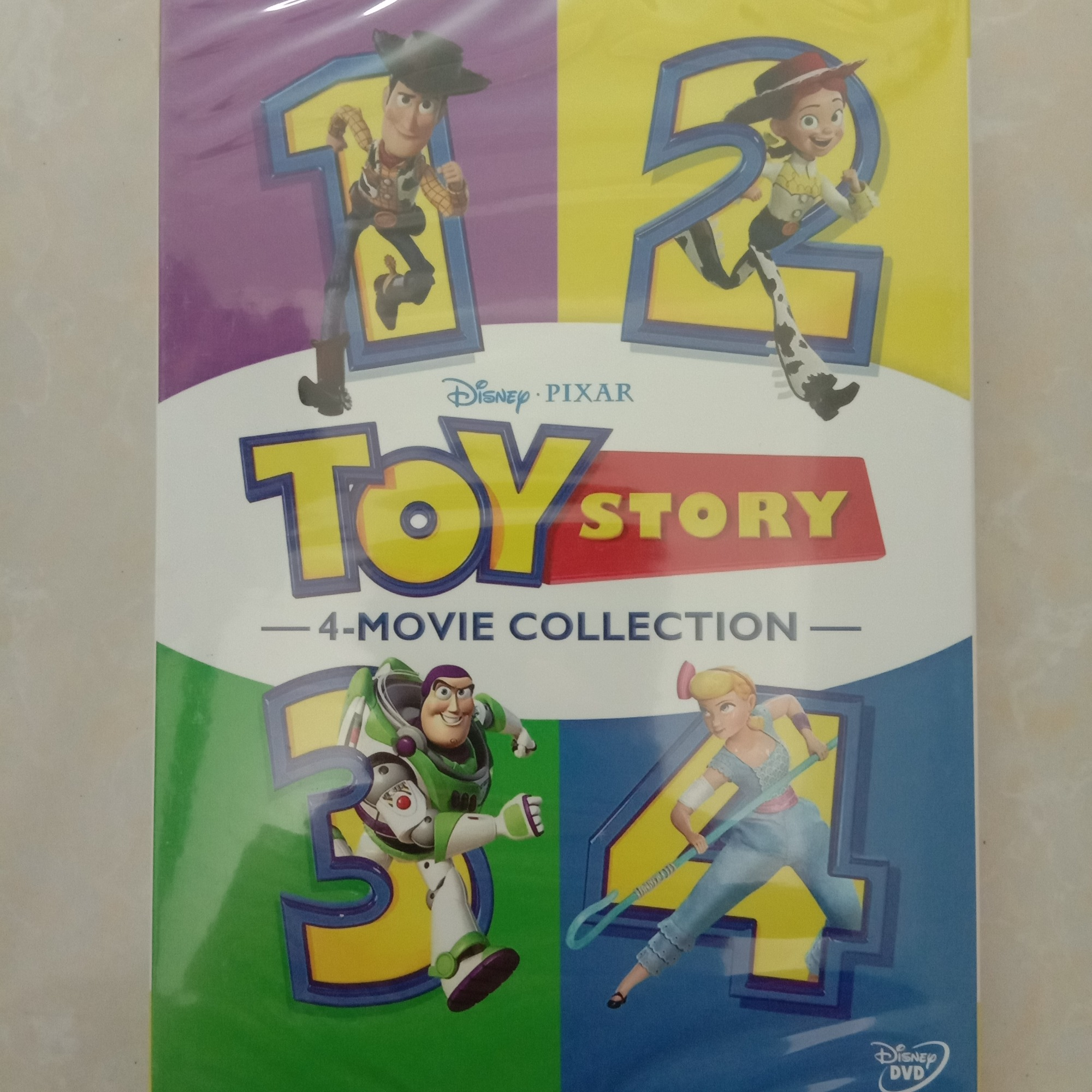 TOY STORY 1-4 Brand New 4-Movie DVD Collection 4 Films 1 2 3 4 (DVD,6-Disc) NEW + Free shipping