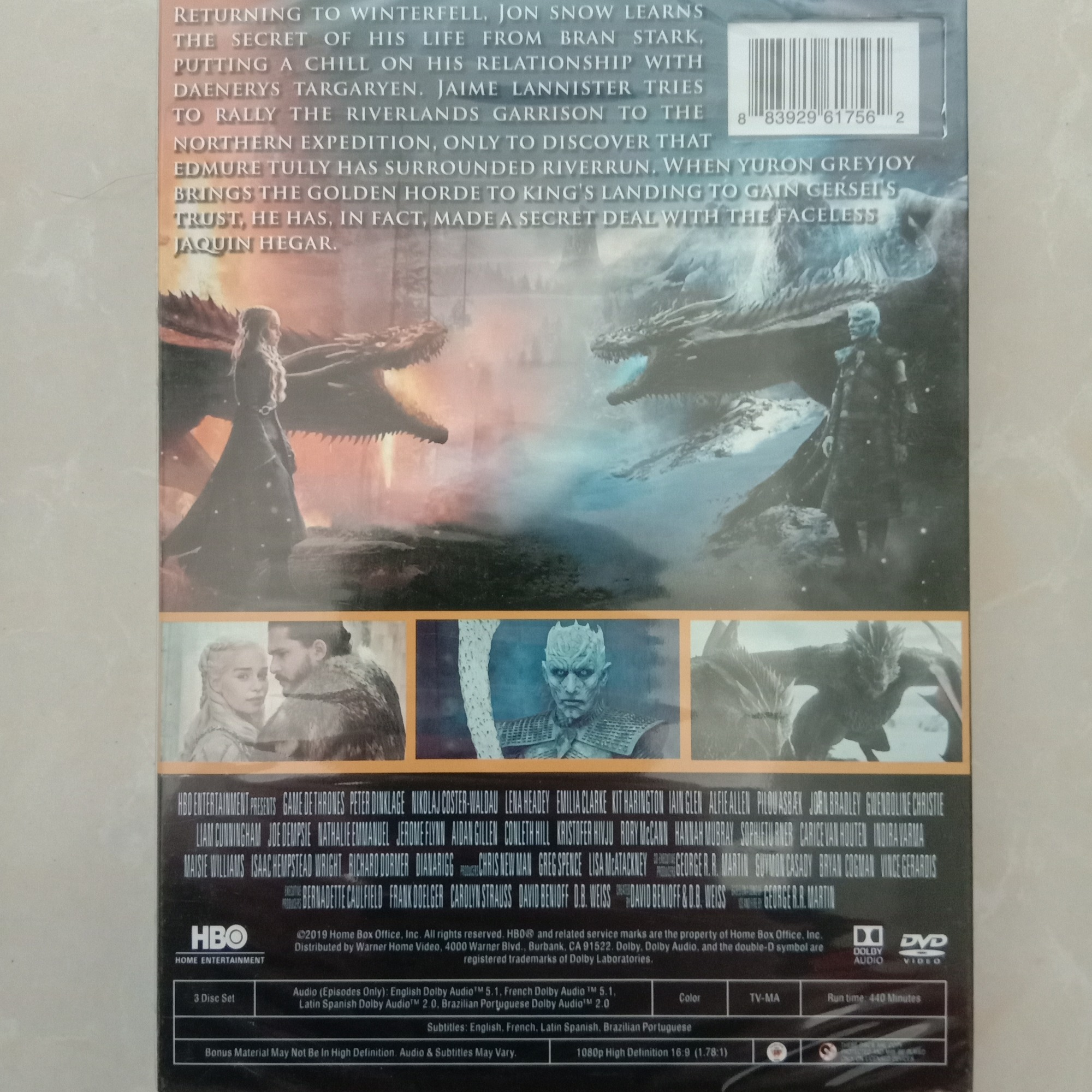Game of Thrones Season 8 (DVD,) New + Free shipping